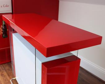 Red Designer Bar